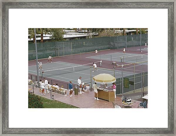 Palm Springs Tennis Club Framed Print