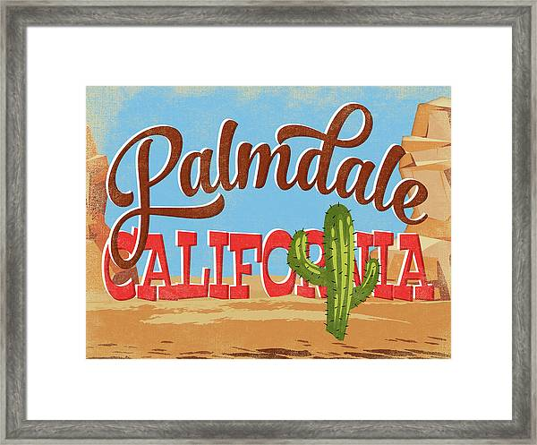 Palmdale California Cartoon Desert Framed Print