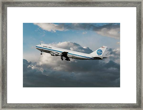 Pan American Boeing 747 At Los Angeles Airport Framed Print