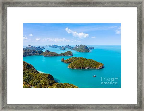 Panorama Ang Thong National Marine Park Framed Print