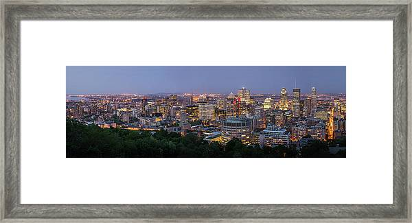 Panorama Of Montreal Skyline Framed Print by Wichan Yingyongsomsawas