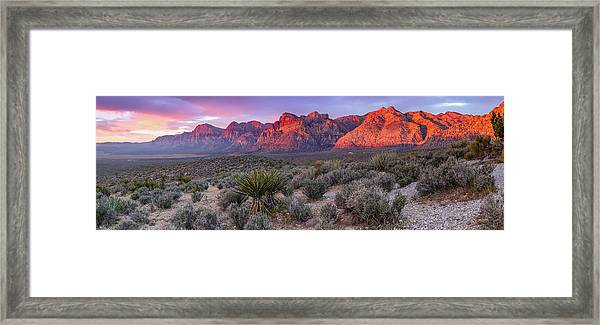 Panorama Of Rainbow Wilderness Red Rock Canyon - Las Vegas Nevada Framed Print
