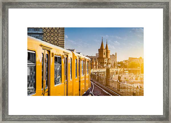 Panoramic View Of Berliner U-bahn With Framed Print