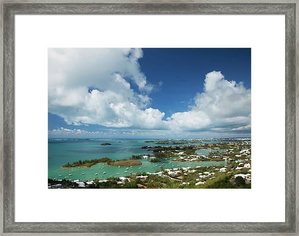 Panoramic View Of Bermuda, Towards Framed Print