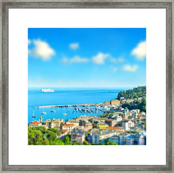 Panoramic View  With Tilt-shift Effect Framed Print by Liligraphie
