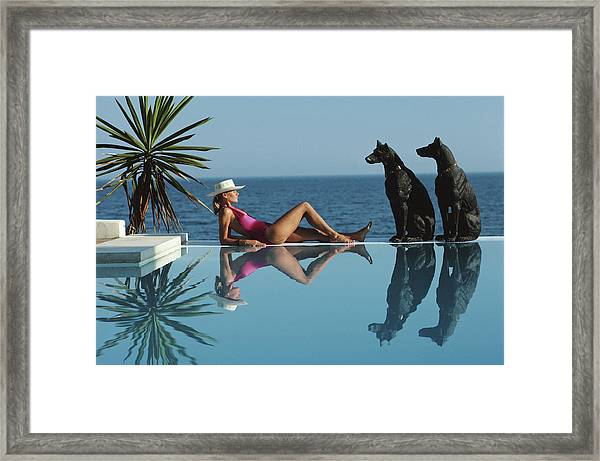 Pantz Pool Framed Print by Slim Aarons