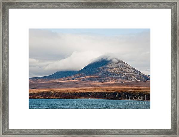 Paps Of Jura Mountains On The Isle Of Framed Print