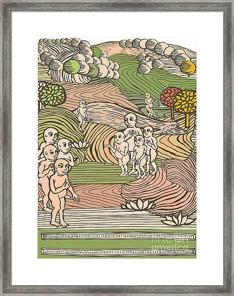 Paradise Illustration Framed Print