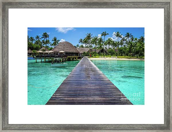 Rangiroa, Tuamotu - Paradise On Earth Framed Print