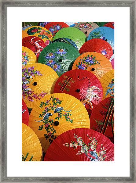 Parasols Framed Print by Buena Vista Images