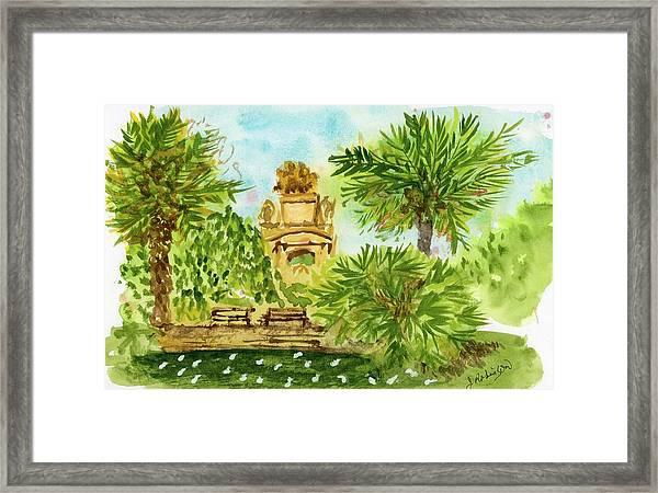 Parc De La Ciutadella Framed Print