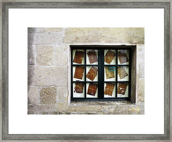 Parchment Panes Framed Print