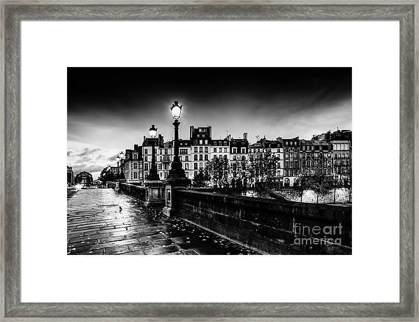 Paris At Night - Pont Neuf Framed Print
