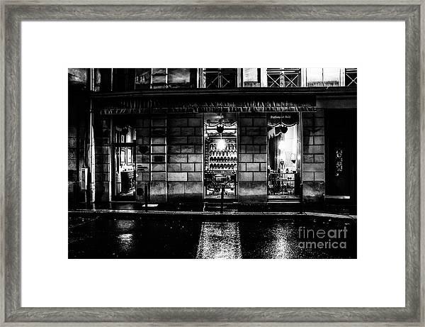 Paris At Night - Rue Bonaparte 2 Framed Print