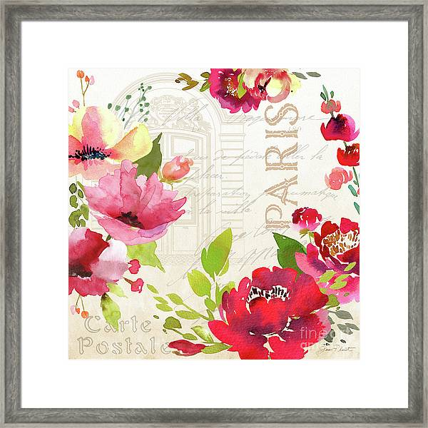 Paris Blossoms A Framed Print