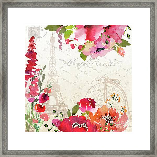 Paris Blossoms B Framed Print