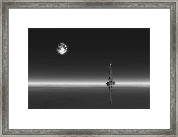 Framed Print featuring the digital art Paris by Jan Keteleer