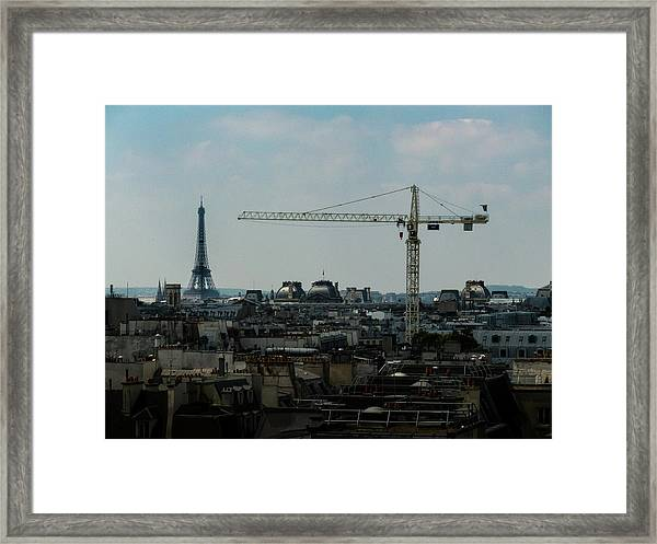 Framed Print featuring the photograph Paris Towers by Juan Contreras