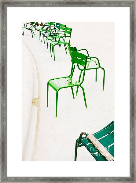 Parisian Metallic Chairs. Photo With Framed Print by Anatoli Styf