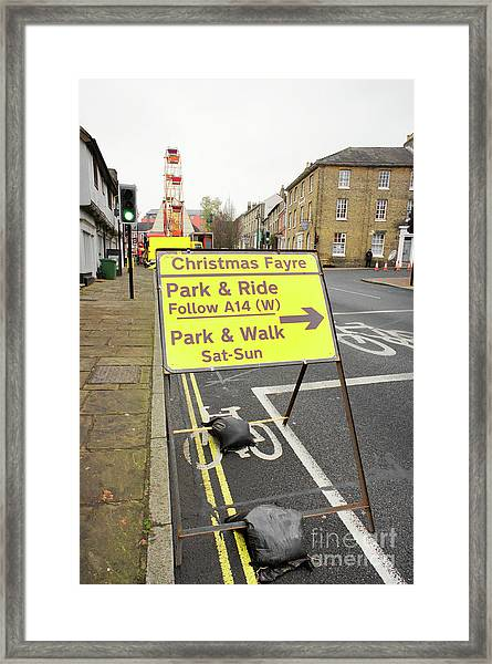 Park And Ride Sign Framed Print