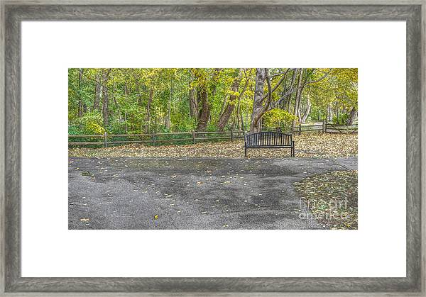 Park Bench @ Sharon Woods Framed Print