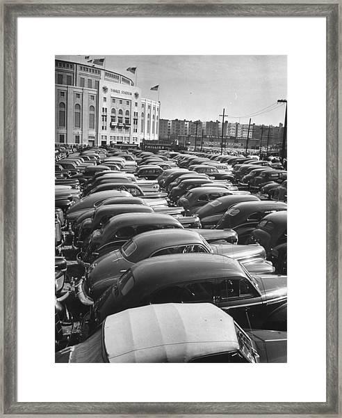 Parking Lot At Yankee Staduim During Wor Framed Print