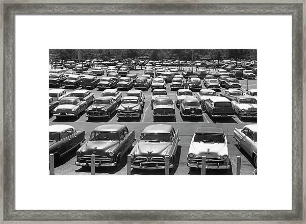 Parking Lot Full Of Cars Framed Print
