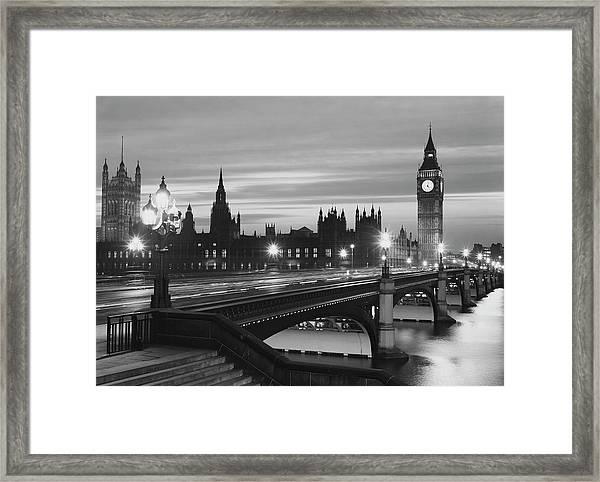 Parliament By Night Framed Print by Peter King