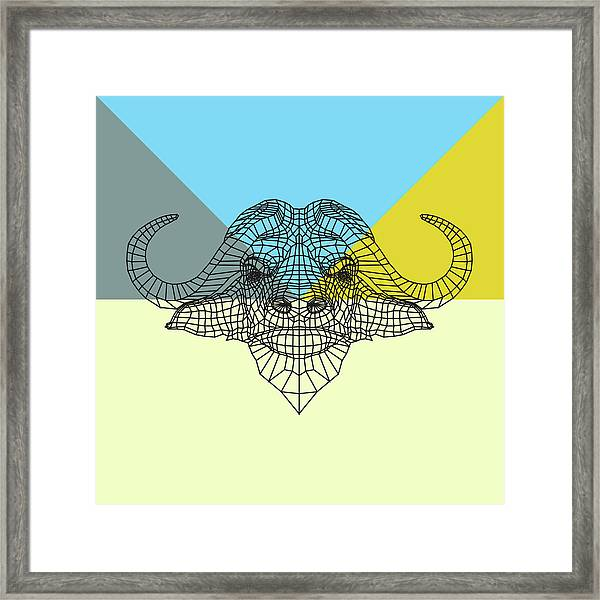 Party Buffalo Mesh Framed Print