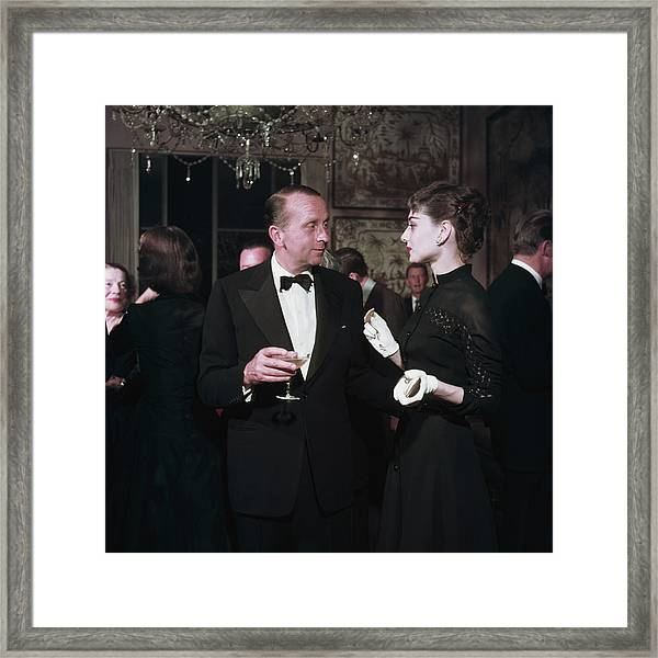 Party Chat Framed Print