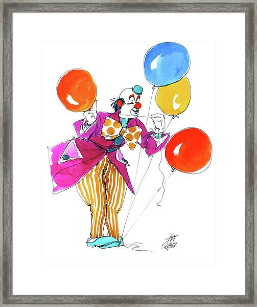 Party Clown Framed Print by Art Scholz