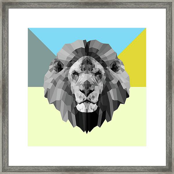 Party Lion Framed Print
