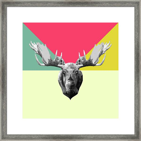 Party Moose Framed Print