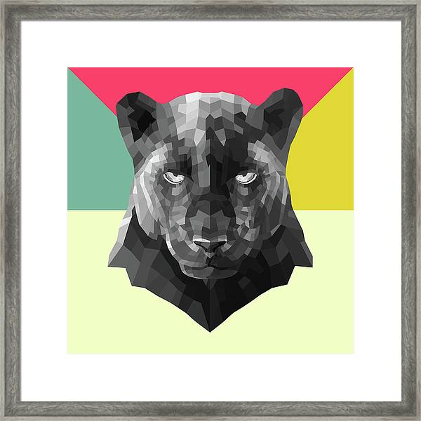 Party Panther Framed Print