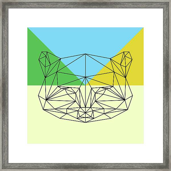 Party Raccoon Framed Print