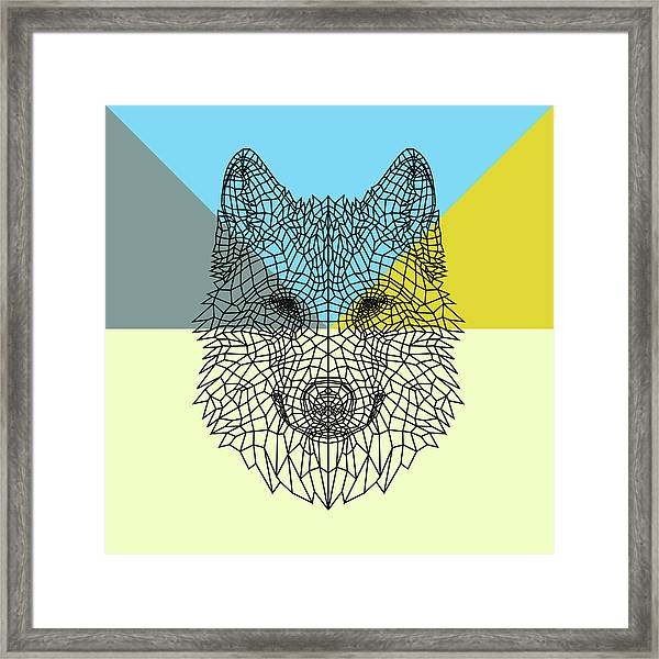 Party Wolf Framed Print