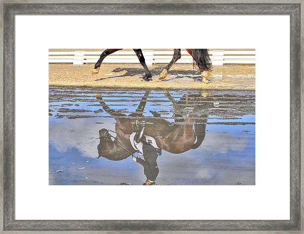 Pas De Deux Reflected Framed Print
