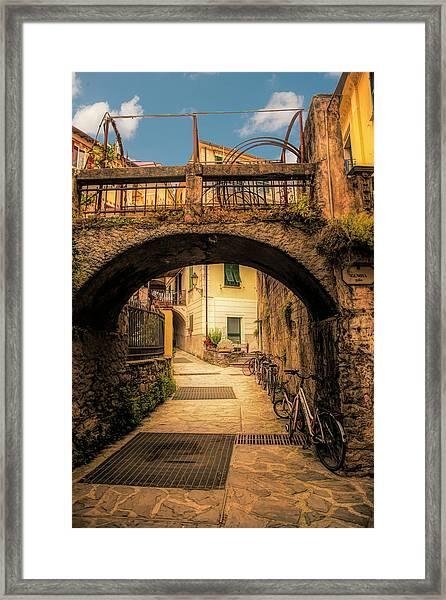 Passageway In Monterosso Framed Print