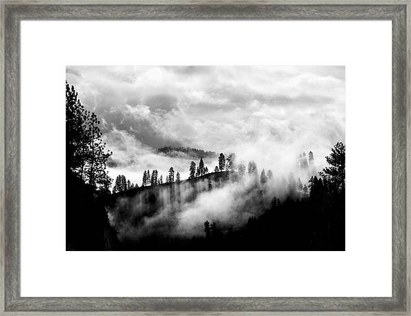 Passing Storm Central Idaho Mountains Framed Print