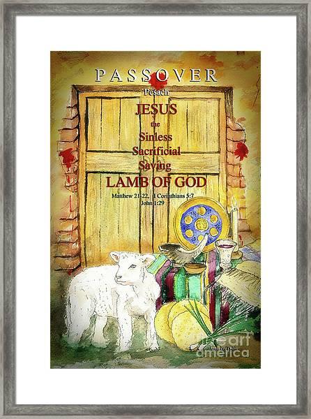 Passover - Jesus - Lamb Of God Framed Print