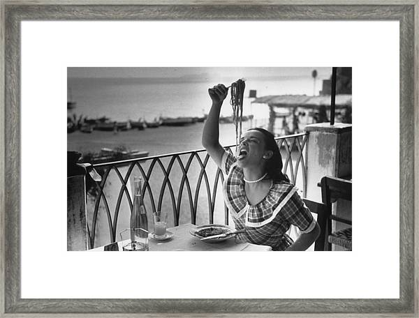 Pasta With Gusto Framed Print