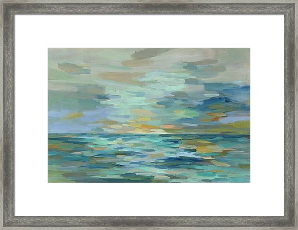 Pastel Blue Sea Framed Print by Silvia Vassileva