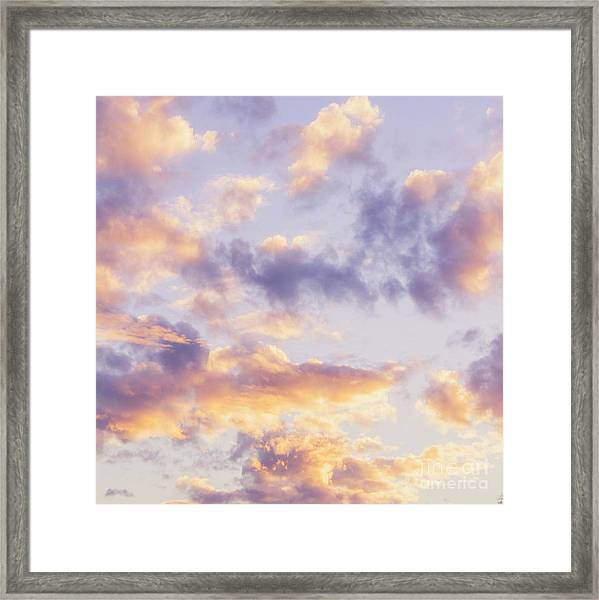 Pastel Cloudscape Framed Print