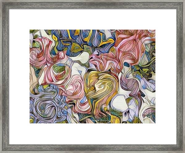 Pastel Mosaic Framed Print