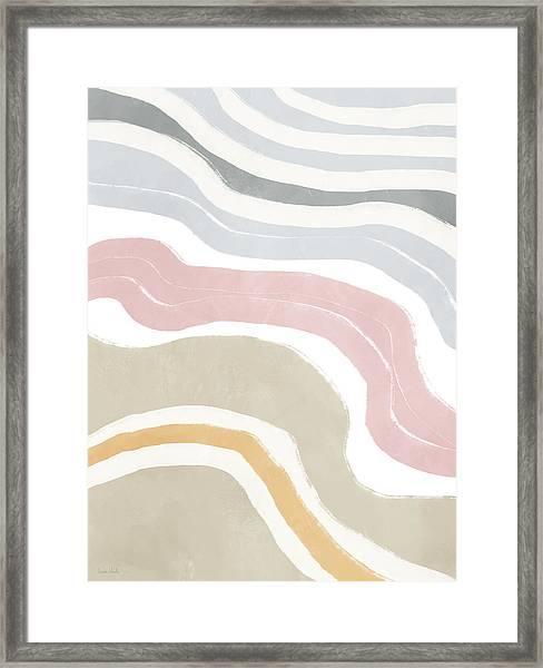Pastel Waves 1- Art By Linda Woods Framed Print