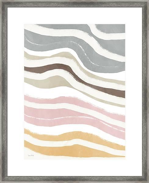 Pastel Waves 2- Art By Linda Woods Framed Print