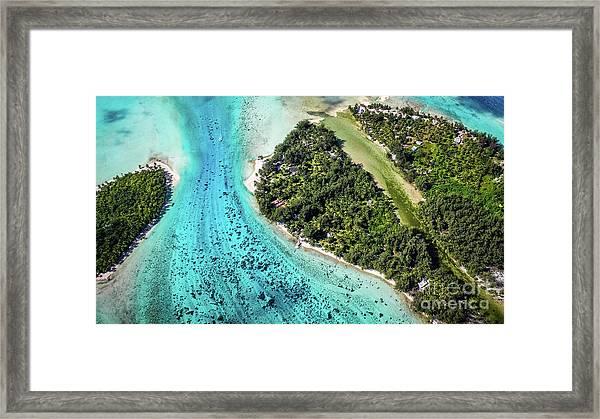 Bora Bora - Pathway To The Ocean Framed Print