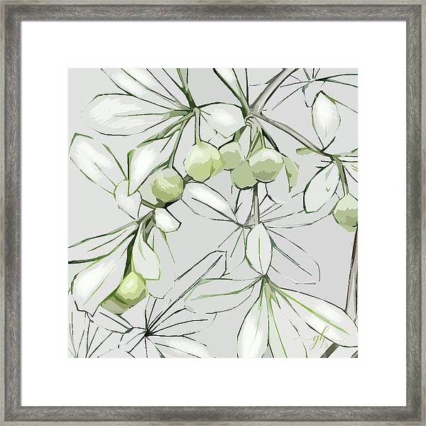 Framed Print featuring the digital art Patio Print by Gina Harrison