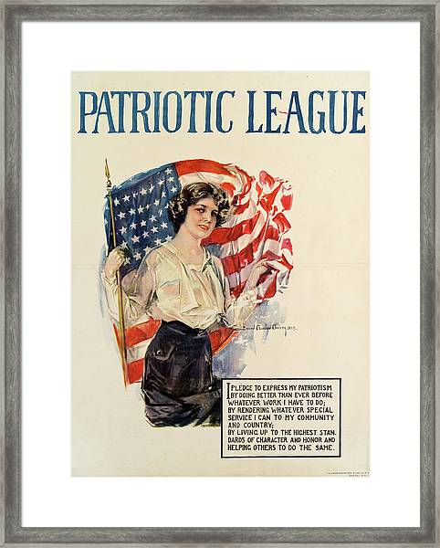 Patriotic League Poster Framed Print
