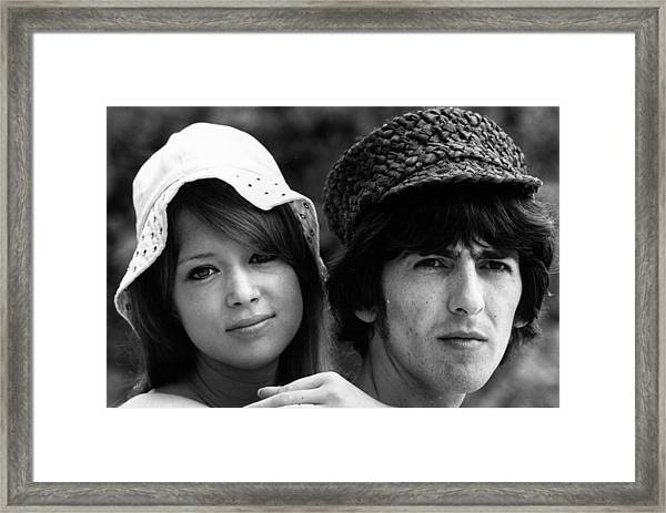 Patti And George Framed Print